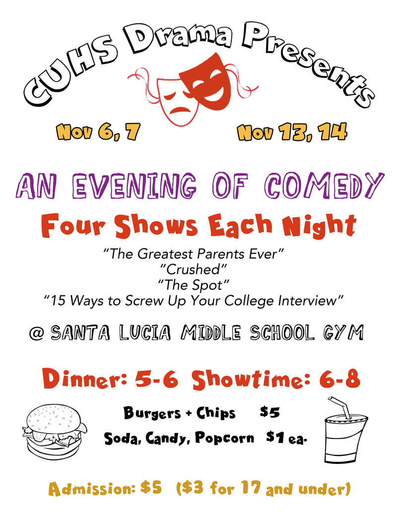 Evening of Comedy -High School Drama Production_Nov 6, 7, 13,14_Cambria, California